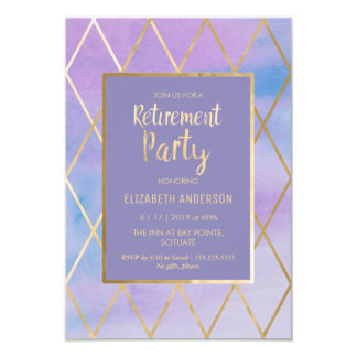 Retirement Party Invitation - Customize, Trendy