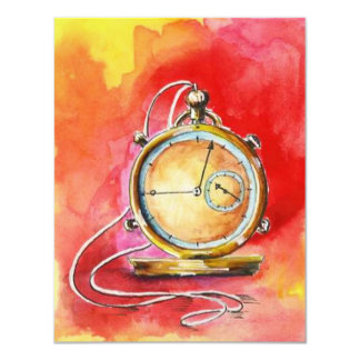 RETIREMENT PARTY INVITATION ~ GOLD POCKET WATCH!