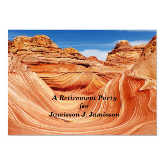 "Retirement Party Invitation Photo Paradise 5"" X 7"" Invitation Card"
