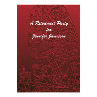 Retirement Party Invitation Red Ferris Wheel
