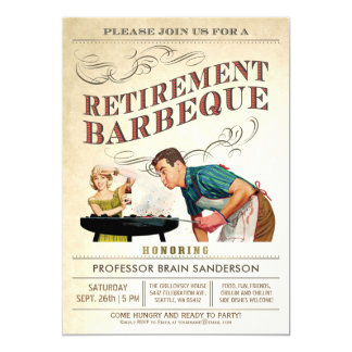 Retirement Party Invitations | BBQ Vintage