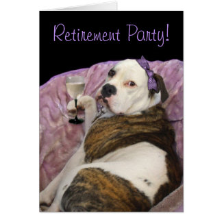 Retirement party olde english bulldogge invitation