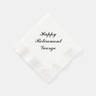 """Retirement Party"" Personalized Napkins Disposable Napkin"