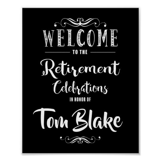 Retirement Party Sign make your own