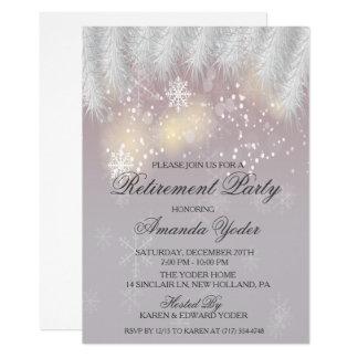 Retirement Party Winter Snowflake Invitation