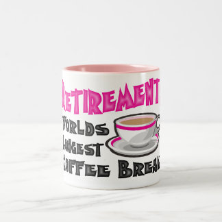 Retirement (Pink) Two-Tone Mug