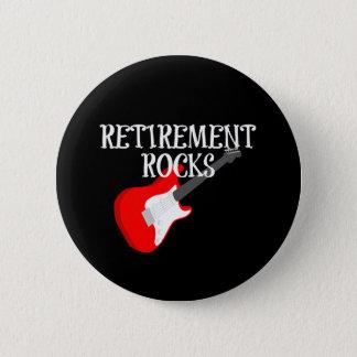 Retirement Rocks, Graphic Design with Guitar 6 Cm Round Badge