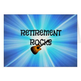 Retirement Rocks Greeting Card