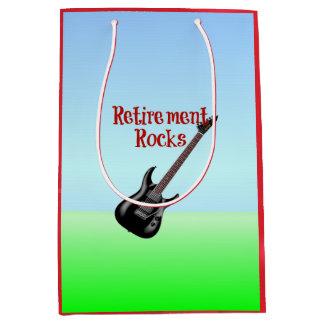 Retirement Rocks--Guitar Medium Gift Bag