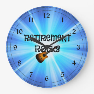 """Retirement Rocks"" Large Clock"