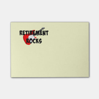Retirement Rocks Post-it Notes