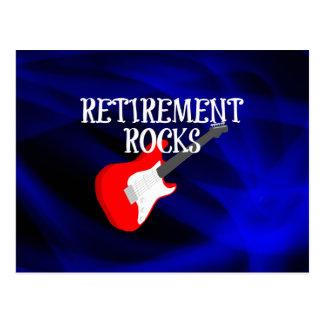 Retirement Rocks, Rocking Guitar Postcard