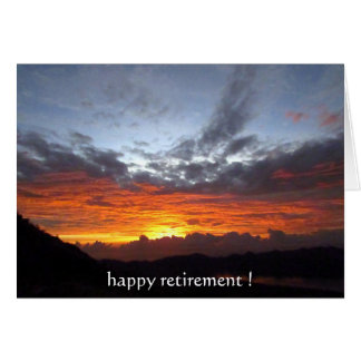 retirement sunset colors greeting card