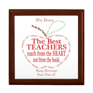 Retirement, Thank you Teacher Gift Gift Box