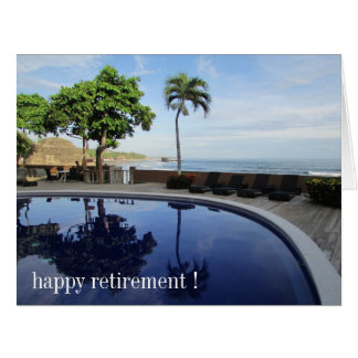 retiring pool big big greeting card