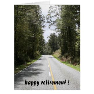 retiring roads big big greeting card