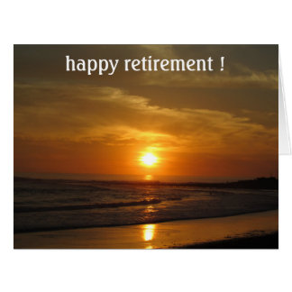 retiring sun big big greeting card