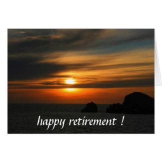 retiring sunset card