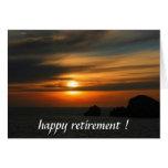 retiring sunset greeting card
