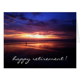 retiring sunset vivid big card