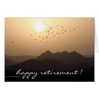 retiring view greeting card