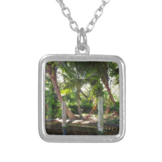 Retreat on Ft Lauderdale's New River Silver Plated Necklace