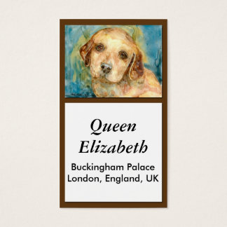 Retriever Puppy Biz Card