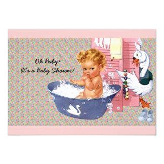 Retro 1940s Baby Shower 13 Cm X 18 Cm Invitation Card