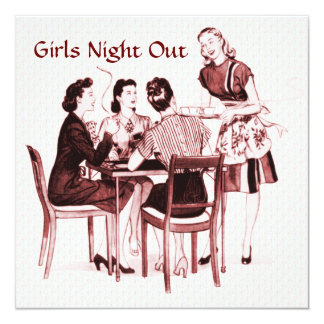 Retro 1940s Girls Night Out Personalized Invite