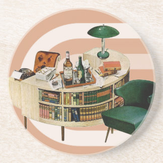 Retro 1940s Office Coaster