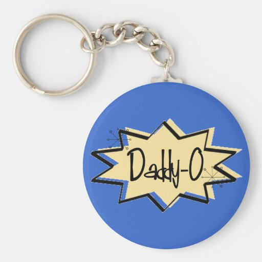 Retro 1950 Daddy-O Keychain