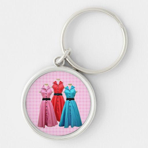 Retro 1950 Dresses PREMUM Keychain