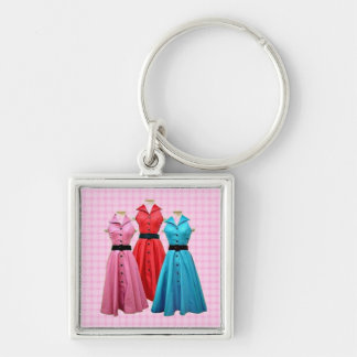 Retro 1950 Fashion Premium Keychain