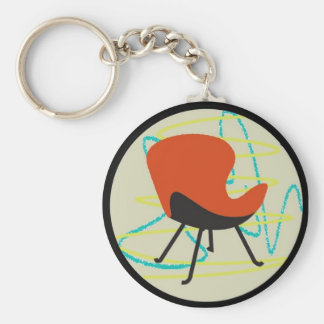 Retro 1950 Red Chair Keychain