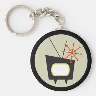 Retro 1950 TV Set Keychain