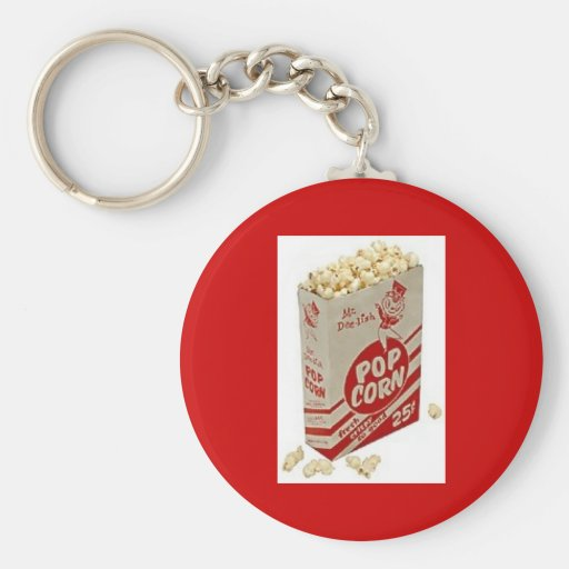 Retro 1950 Vintage Pop Corn Key Chain