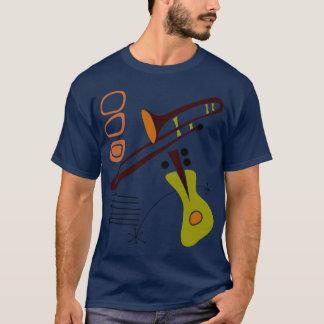 Retro 1950's Abstract Guitar & Trombone Shirt