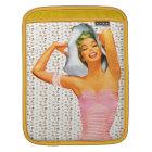 Retro 1950s Beach Beauty iPad Sleeve