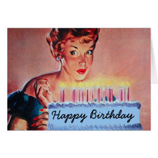 Retro 1950s Birthday Card