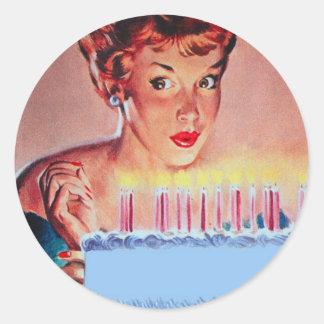 Retro 1950s Birthday Classic Round Sticker