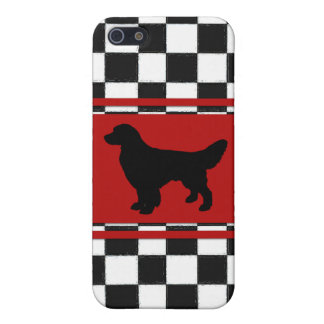 Retro 1950s Classic Pattern with Golden Retriever iPhone 5/5S Covers