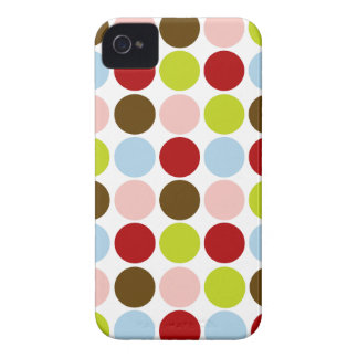 Retro 1950s Color Polka Dots iPhone 4 Case