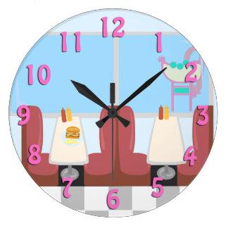 Retro 1950's Diner Round Clock