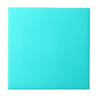 Retro 1950's era Turquoise Blue mid-century era Small Square Tile