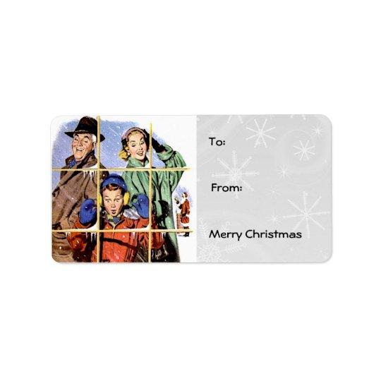 Retro 1950s Gift Tags Address Label