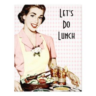 Retro 1950s Luncheon Custom Announcements