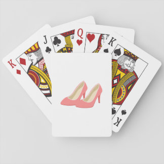 Retro 1950s Pink High Heels Playing Cards