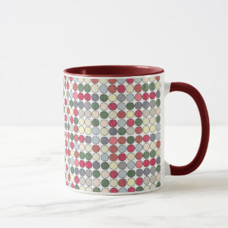 Retro 1950s Polka Dots Coffee Mug