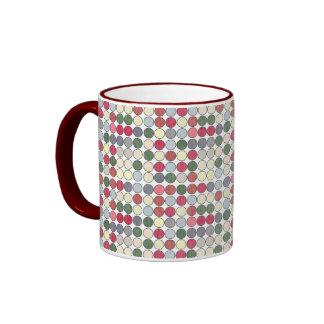 Retro 1950s Polka Dots Coffee Mug