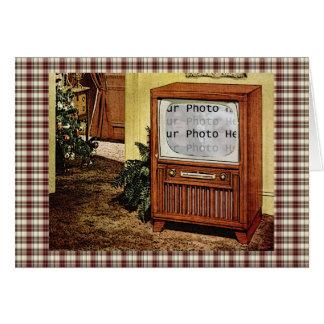 Retro 1950s TV Photo Greeting Cards